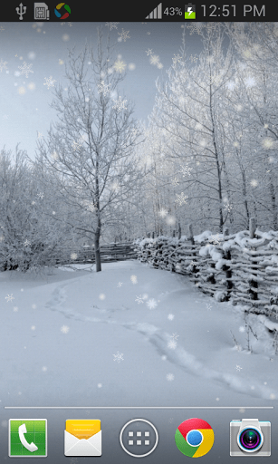 Скриншот Зимний снег Live Wallpaper Pro для Android