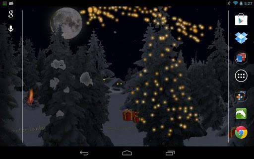 Скриншот Зимний Снегопад Live Wallpaper для Android
