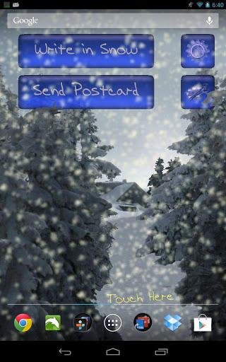 Скриншот Зимний Снегопад Живые Обои / Winter Snowfall LWP для Android