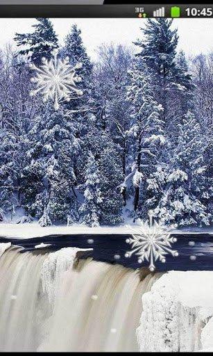 Скриншот Зимний Водопад Живые Обои для Android