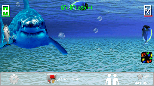 Скриншот Злой акулы трещины экрана / Angry Shark Cracked Screen для Android
