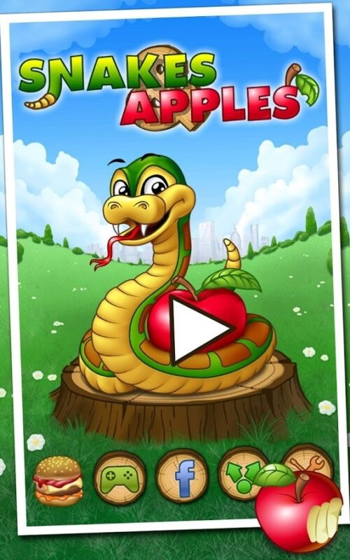 Скриншот Змеи и яблоки для Android