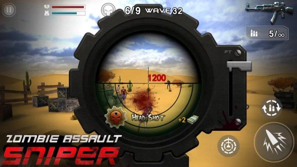 Скриншот Zombie Assault: Sniper для Android