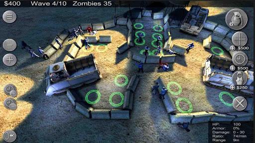 Скриншот Zombie Defense для Android