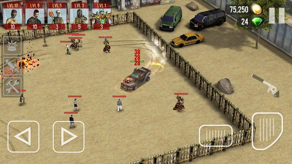 Скриншот Zombie Drift для Android
