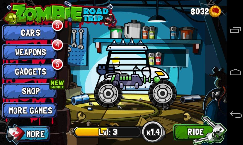 Скриншот Zombie Road Trip для Android