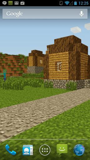 Скриншот ZombieTown Minecraft обои для Android