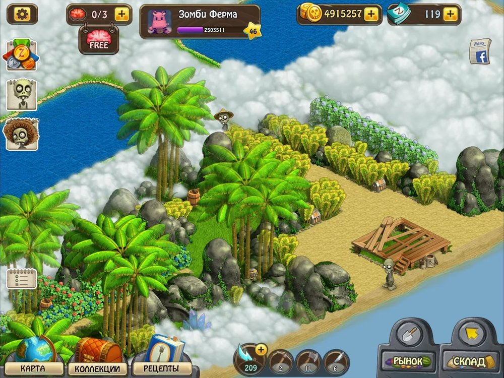 Скриншот Зомби Ферма для Android