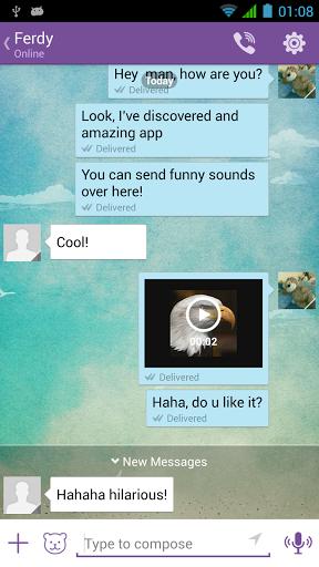 Скриншот Звуки для Viber для Android